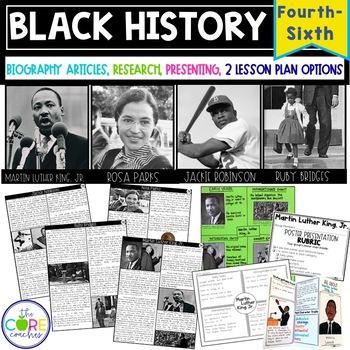 Black History-Martin Luther King Jr., Ruby Bridges, Rosa P