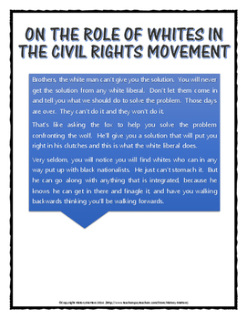 Civil Rights - Martin Luther King and Malcolm X - Ideas (Collaborative Lesson)