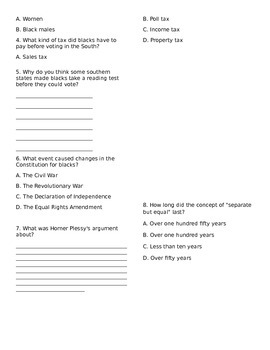Civil Rights Milestone Review Packet