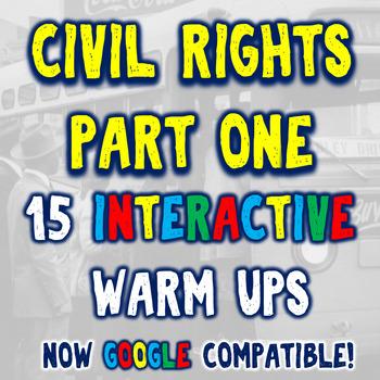 Civil Rights Movement 15 Bellringers Warm Ups - DBQ - Part One