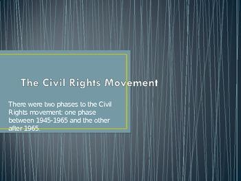 Civil Rights Movement 1945-1960's