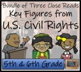 Civil Rights Movement Close Reading Activity Bundle 5th Grade & 6th Grade