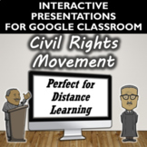Civil Rights Movement Activity for Google Slides- Distance