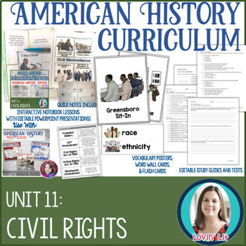 Civil Rights Movement American History Unit Bundle