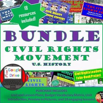 Civil Rights Movement BUNDLE: (Secondary U.S History)