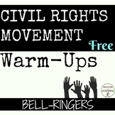 Civil Rights Movement Bell-ringers, warm-ups, writing prom