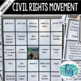 Civil Rights Movement Bingo (works with Distance Learning)