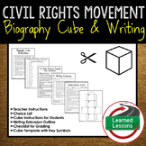 Civil Rights Movement Activity Biography Cubes (African American History)