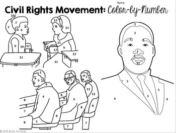 Civil Rights Movement: Color-by-Number Activity