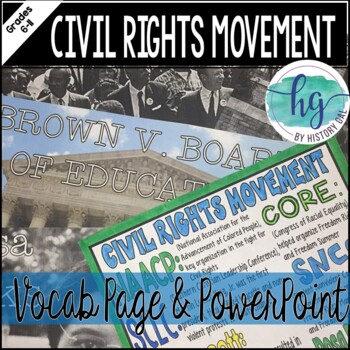 Civil Rights Movement Coloring Page and PowerPoint