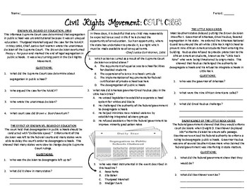 Civil Rights Movement Court Cases