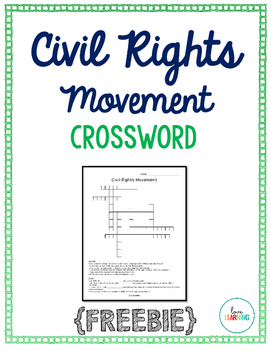 Civil Rights Movement Crossword {Freebie}