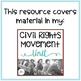 Distance Learning: Civil Rights Movement Crossword Puzzle Freebie