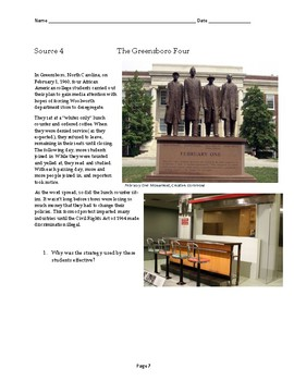 Social Studies DBQ: Civil Rights Movement