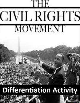 Civil Rights Movement Differentiation Activity - Power to the Students!