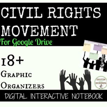 Civil Rights Movement Digital Interactive Notebook Google Drive