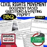 Civil Rights Movement Document Based Questions DBQ (Americ