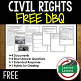 Civil Rights Movement Document Based Questions DBQ Free