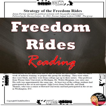 Civil Rights Movement – Freedom Rides Strategy Reading & Questions
