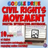 Civil Rights Movement Google Drive Interactive Notebook