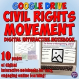 Civil Rights Movement Google Drive Interactive Notebook