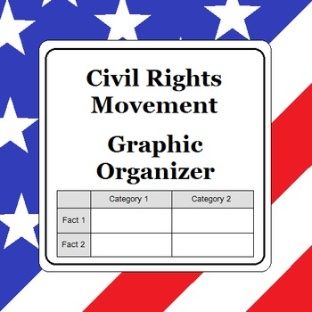 Civil Rights Movement Graphic Organizer Timeline