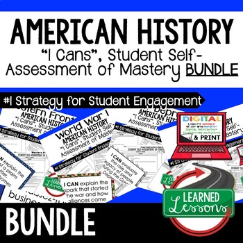 Civil Rights Movement I Cans Student Self Assessment Mastery-- American History