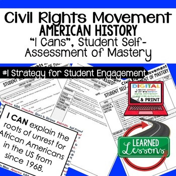 Civil Rights Movement I Cans Student Self Assessment Maste