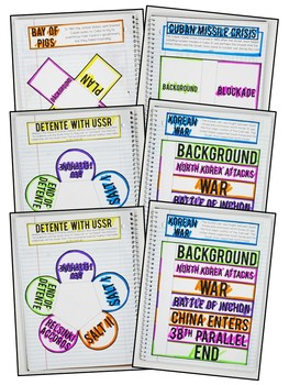 Civil Rights Movement Interactive Notebook & Graphic Organizers