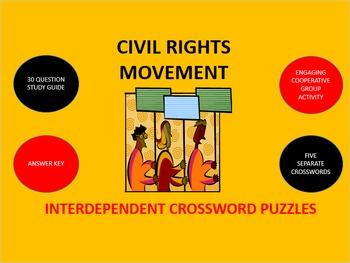 Civil Rights Movement: Interdependent Crossword Puzzles
