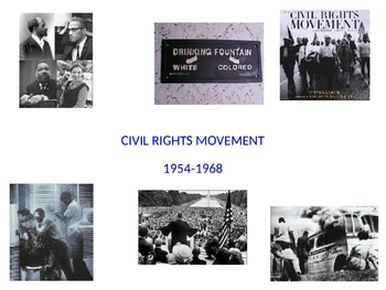 Civil Rights Movement Internet Reseach POWERPOINT
