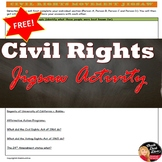FREE! Civil Rights Movement Jigsaw worksheet (U.S. History)
