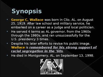 Civil Rights Movement - Key Figures - George Wallace