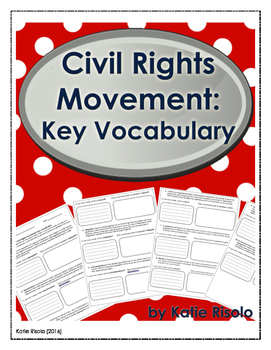 Civil Rights Movement Key Vocabulary