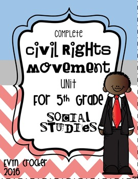 Civil Rights Movement Lap Book