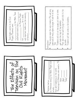 Civil Rights Movement Interactive Notebook Unit