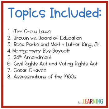 Civil Rights Movement PowerPoint Lesson and Guided Notes
