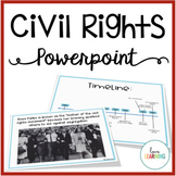 Distance Learning: Civil Rights Movement PowerPoint Lesson and Guided Notes