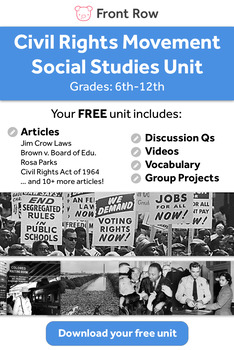 Civil Rights Movement Lesson Pack (free!)