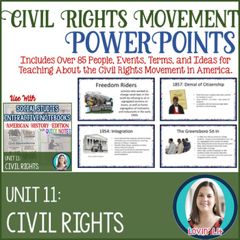 Civil Rights Movement Lesson PowerPoints