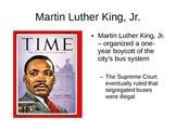 Civil Rights Movement / Martin Luther King, Jr (MLK) Power