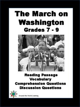 Civil Rights Movement - March on Washington - Grades 7 to 9