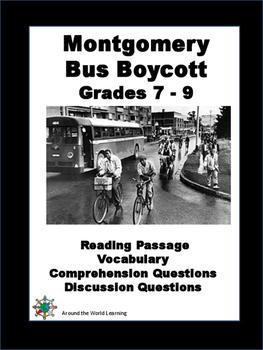 Civil Rights Movement - Montgomery Bus Boycott - Reading P