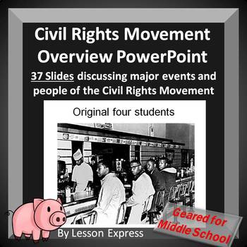 Civil Rights Movement Overview -- PowerPoint and Worksheet