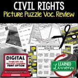 Civil Rights Movement Activity Picture Puzzle, Study Guide, Test Prep