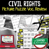 Civil Rights Movement Activity Picture Puzzle, Study Guide