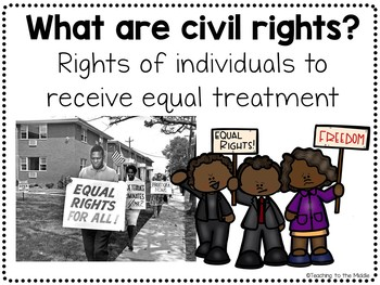 Civil Rights Movement Power Point with Guided Notes, Comprehension Questions