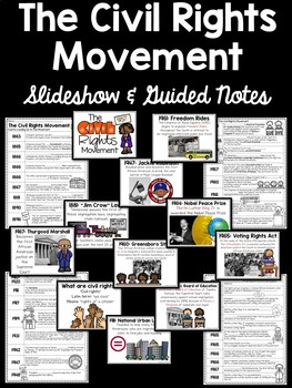 Civil Rights Movement Slideshow with Guided Notes