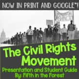 Civil Rights Movement PowerPoint PLUS Student Guide for Di