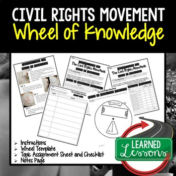 Civil Rights Movement Activity, Wheel of Knowledge